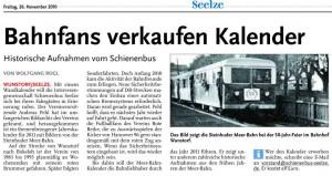 Bahnfans verkaufen Kalender