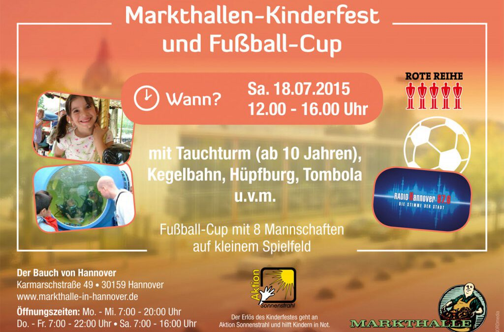 Markthallen-Kinderfest und Fußball-Cup